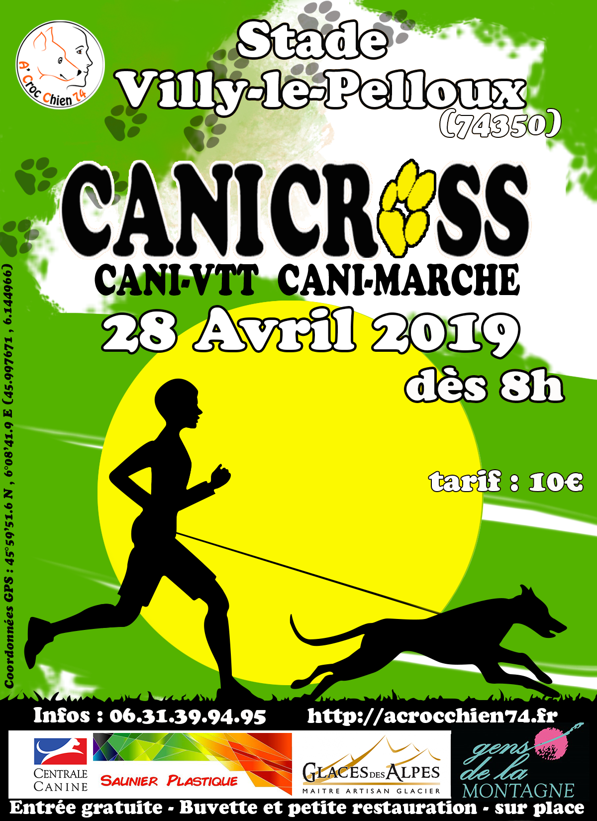 Calendrier Canicross.Concours Canicross Dimanche 28 Avril 2019 A Croc Chien 74